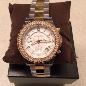MICHAEL KORS Rose Gold Clear